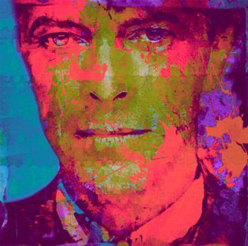 Motiv Porträt David Bowie Pop Art PUR Serie von
