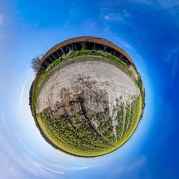 Tiny planet Schuur Rommelpot  van Texel360Fotografie Richard Heerschap