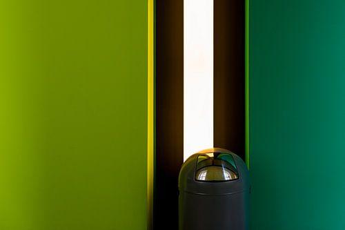 Afvalbak voor groene muur