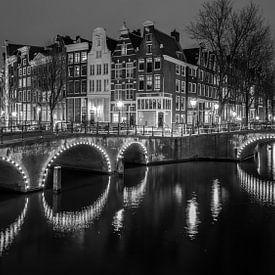 Amsterdamse Grachten (B&W) van Dennis Wierenga