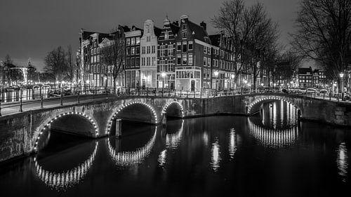 Amsterdamse Grachten (B&W) von