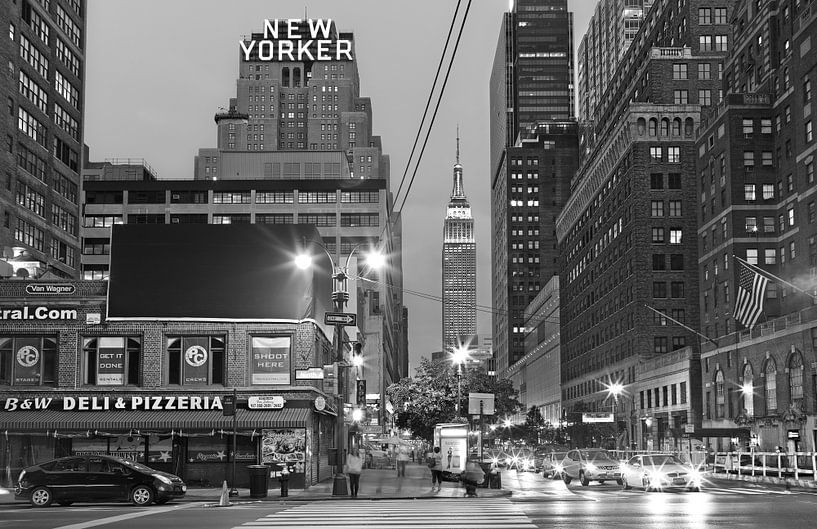 Hotel The New Yorker, Empire State Building in West Side sur Nico Geerlings