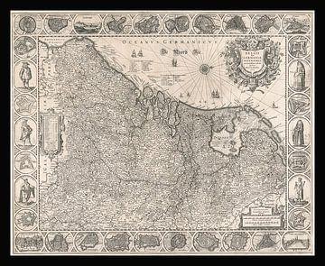 Karte der Niederlande um 1631 von Gert Hilbink
