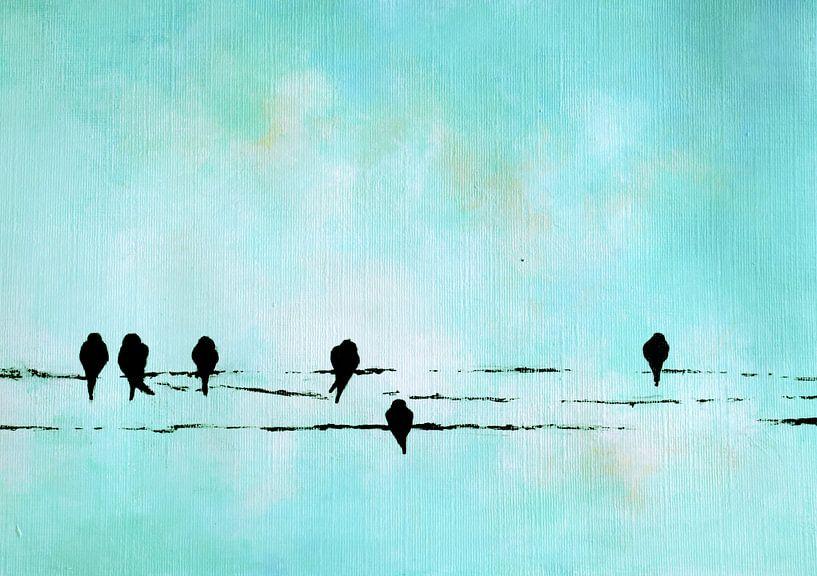 Birds on a wire 11 van Maria Kitano