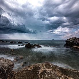 Zeegezicht Livorno van Eddy Westdijk