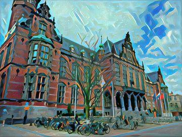 Modern schilderij Academiegebouw Groningen