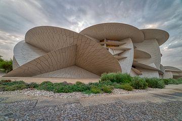 National Museum of Qatar (Wüstenrose) Panorama-Außenansicht zeigen die einzigartige Architektur des  von Mohamed Abdelrazek