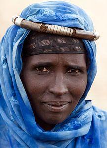 Borena Woman, Ethiopie van Gerard Burgstede