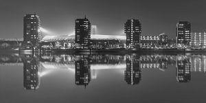 """Feyenoord Stadion """"De Kuip"""" Reflectie 2017 in Rotterdam (formaat 2/1)"""