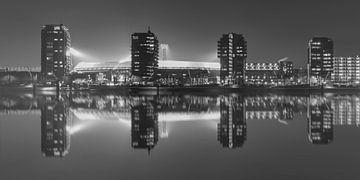 "Feyenoord Stade ""De Kuip"" Réflexion 2017 in Rotterdam (format 2/1) sur MS Fotografie | Marc van der Stelt"