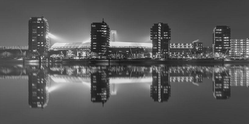 """Feyenoord Stadion """"De Kuip"""" Reflectie 2017 in Rotterdam (formaat 2/1) van MS Fotografie"""
