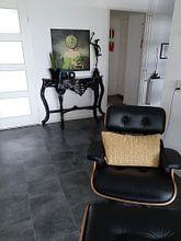 Klantfoto: Veel tijd aan je hoofd van Marja van den Hurk, op canvas
