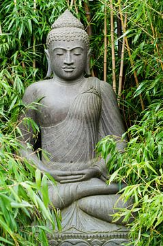 Zen Buddha in Bamboo sur Patricia Verbruggen