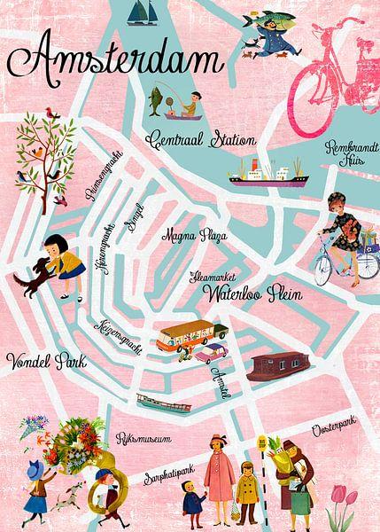 Amsterdam Map von Green Nest