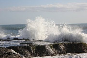 Indonesië: Golfslag aan de kust van Java von Raoul van de Weg