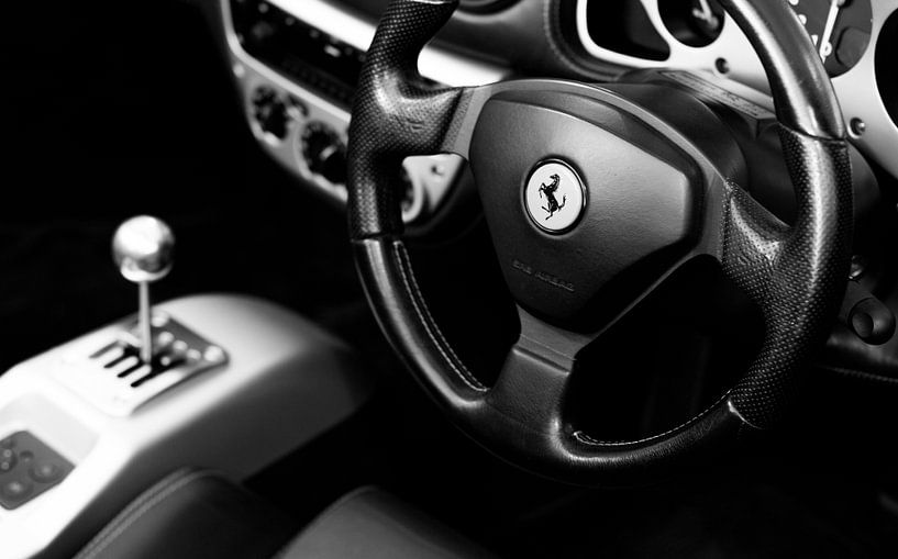 Ferrari sportscar Cockpit van Atelier Liesjes