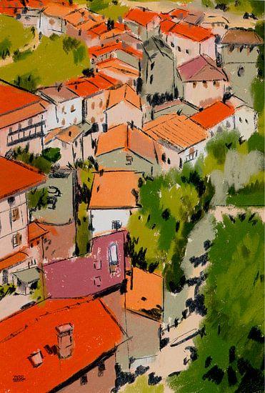 Pastel Frankrijk van Pieter Hogenbirk