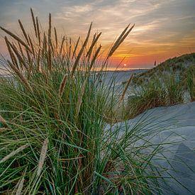 Sunset at Zeeland van Foto Amsterdam / Peter Bartelings