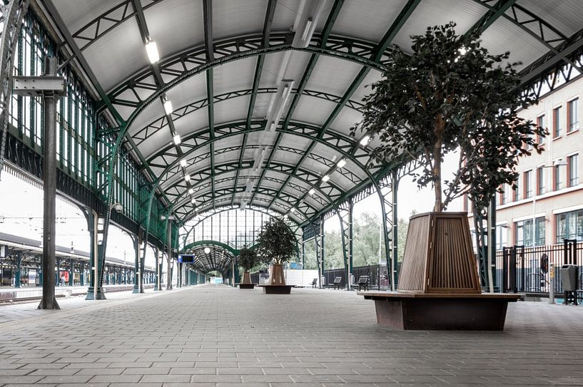 Perron treinstation 's-Hertogenbosch van Marga Meesters