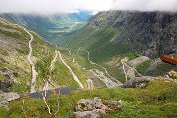 Uitkijkplateau Trollstigen Noorwegen van Margreet Frowijn