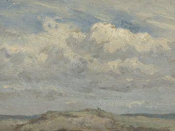 Duintop met op de achtergrond de zee, Jan Willem van Borselen, 1835 - 1892 van Eigenwijze Fotografie