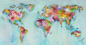 Paint World Map light