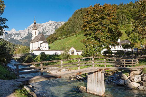 Parochiekerk St.Sebastian, Ramsau, Opper-Beieren, Duitsland