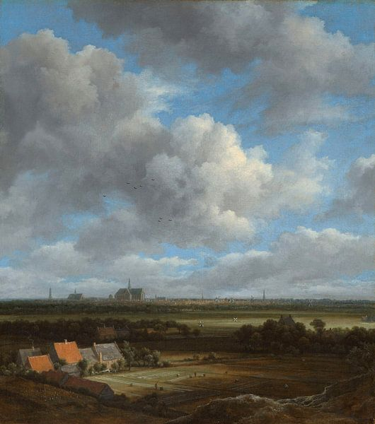 Ansicht von Haarlem, Jacob Isaacksz. van Ruisdael von Meesterlijcke Meesters