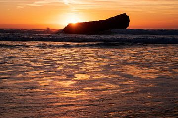 Zonsondergang op een prachtplek in de Algarve van elma maaskant