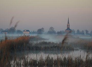 Mistige zonsopkomst von Jitske Van der gaast