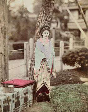 Vintage-Foto, Frau, Kusakabe Kimbei, 1870er - 1890er Jahre