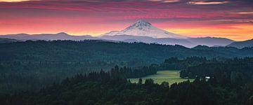 Jonsrud Aussichtspunkt in Richtung Mount Hood, Oregon. von Henk Meijer Photography