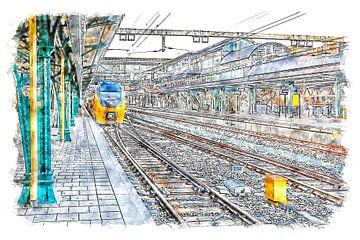 Bahnhof Roosendaal von Art by Jeronimo