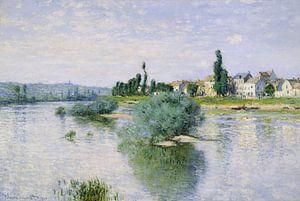 The Seine at Lavacourt 1880 , Claude Monet  van Julia Aqua