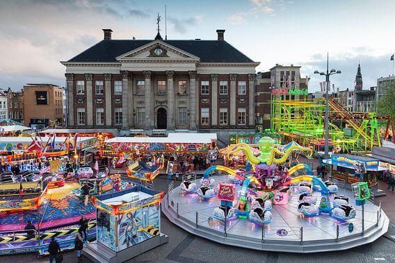 Meikermis op de Grote Markt  in de stad Groningen / 2014