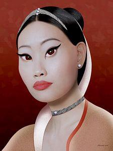 Aziatische Rijkdom (Zilver) van Ton van Hummel (Alias HUVANTO)