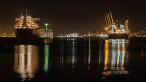 Schepen in de Rotterdamse Waalhaven