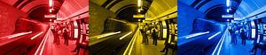 3x Londen underground horizontaal
