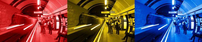 3x Londen underground horizontaal van Ton de Koning