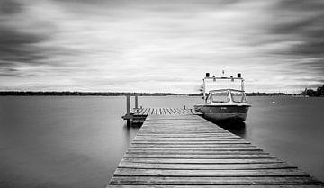 Landingsplaats voor boten in Augsburg van Eduard Martin