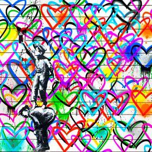 Hommage - We need Love - Love Pop Art
