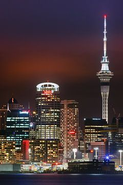 Zonsondergang Auckland, Nieuw Zeeland van Henk Meijer Photography