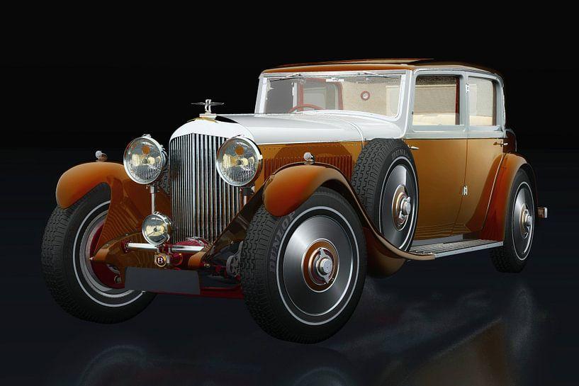 Bentley 8 liter driekwart zicht van Jan Keteleer