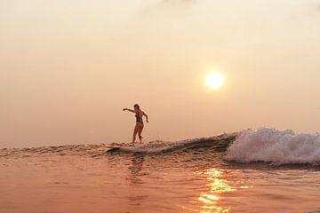 Sunset Surf  Slider van Ward Jonkman