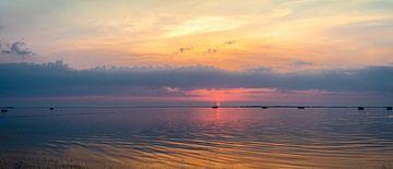 Panorama Sonnenuntergang Rügen, Deutschland von Rietje Bulthuis