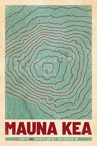 Mauna Kea | Kaart Topografie (Retro) van ViaMapia