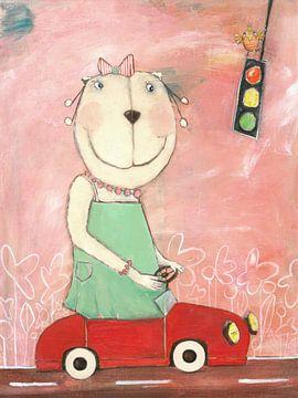 Frau Bär im Straßenververkehr von Atelier BuntePunkt