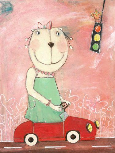 Frau Bär im Straßenververkehr