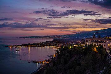 Het Uitzicht op Taormina van Wesley Flaman