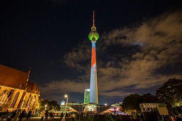 Televisietoren Berlijn - in een bijzonder licht